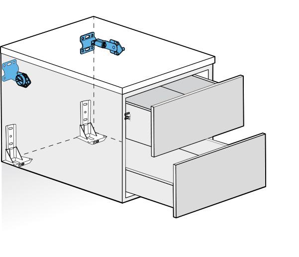 Attaccaglia atlas per fissaggio a muro di grandi mobili for Programmi per disegnare mobili